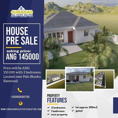 Pre Sale House CUR Palu Blanku