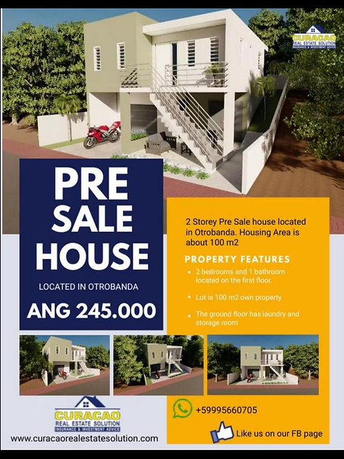 Pre Sale House CUR Otrobanda