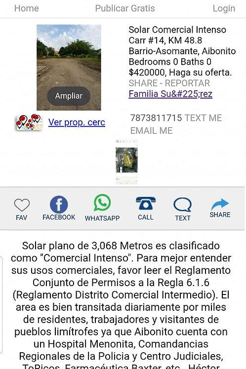 Land Puerto Rico Road #14, KM 48.8, Aibonito