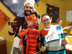 Little lobster and a pumpkin beer