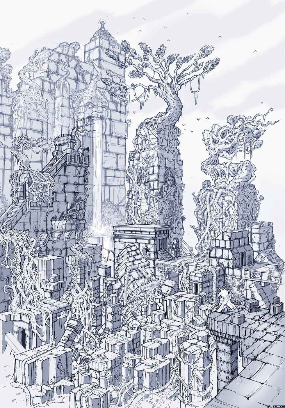 Temple Sketch 2