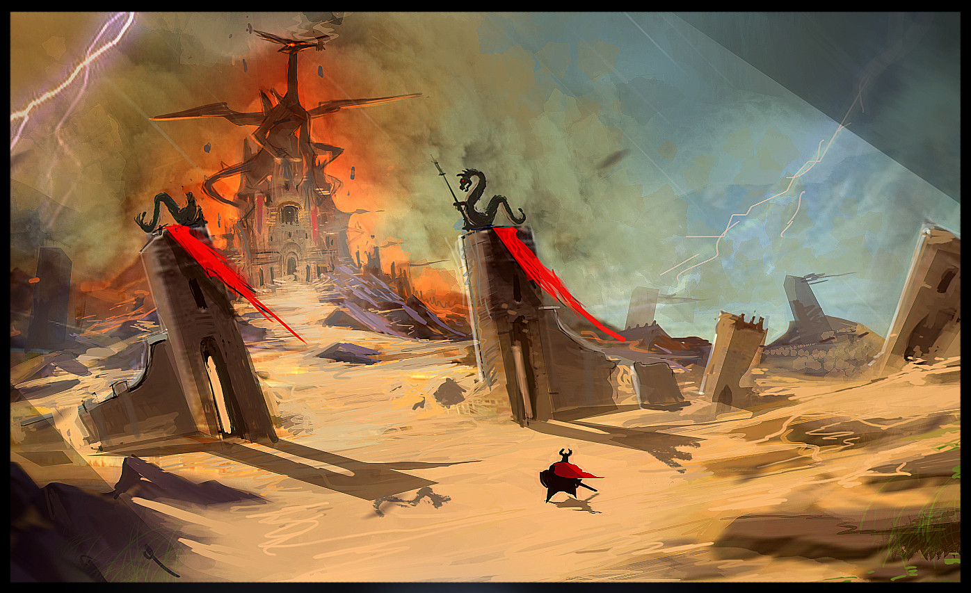 CastleClash :New Dawn Environment design sketch