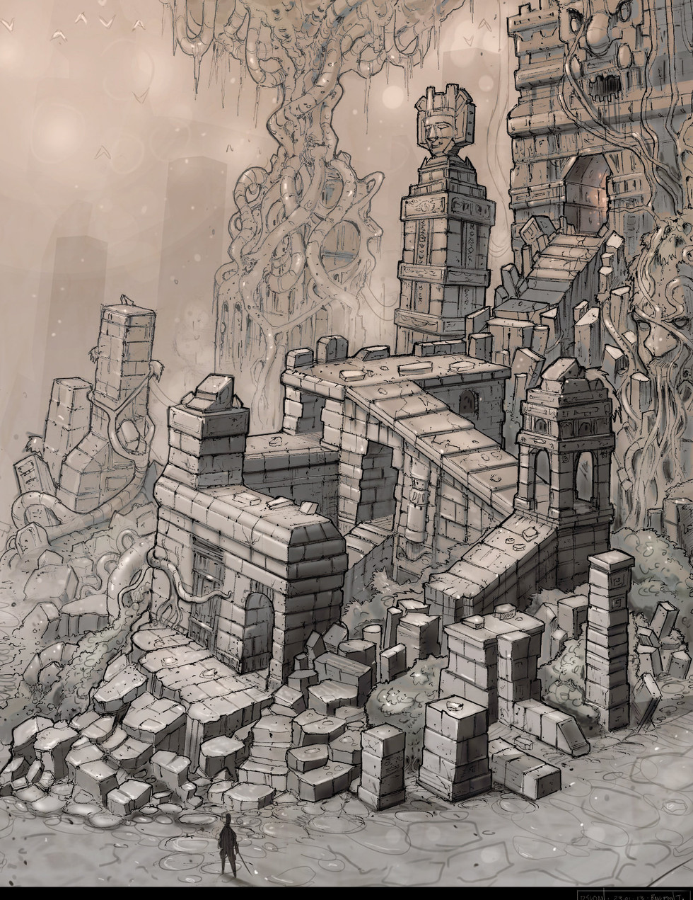 Temple Sketch 1