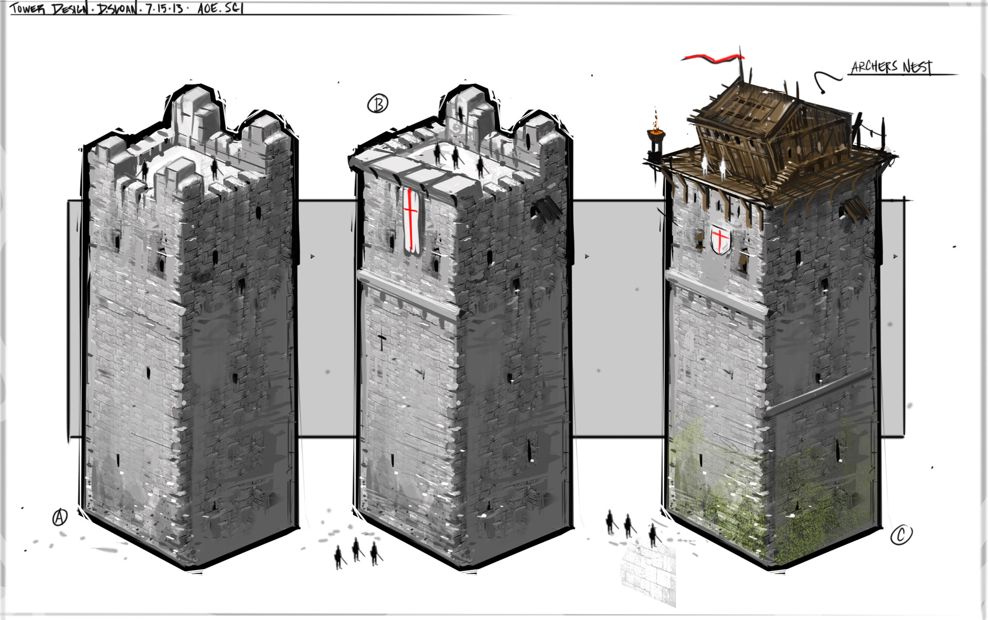 Age of Empires CS: Tower Sketches