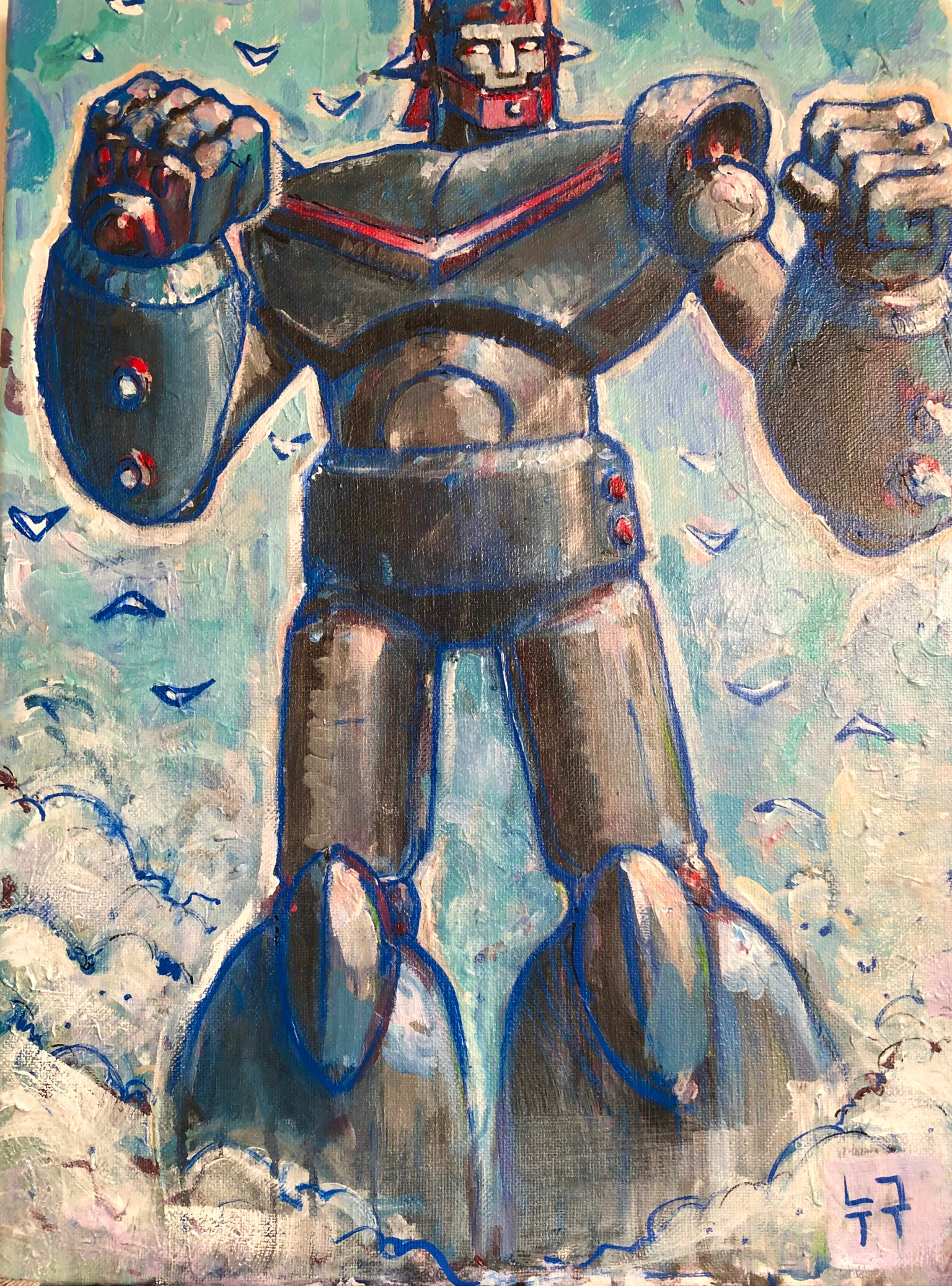 RTV. acrylic on canvas (Korea)