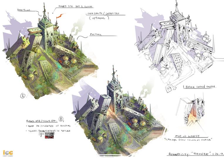 City design sketch