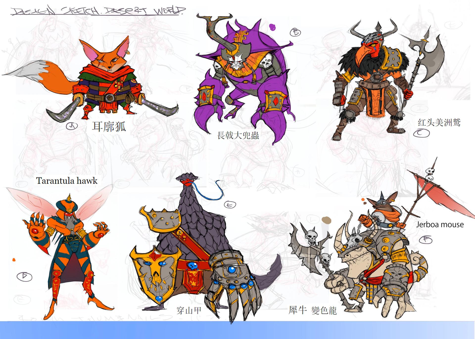 CastleClash :New Dawn Character development sketches