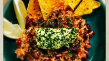 Assiette végétarienne d'inspiration mexicaine