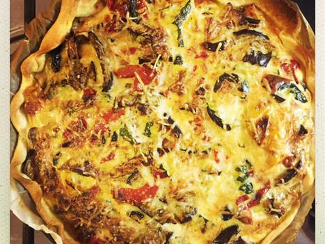 Qu'est ce qu'on mange ce soir??? Une tarte aux légumes du soleil. Vite faite, bien faite