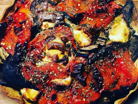 Tarte au thon et légumes grillés