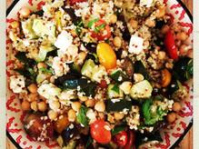 Salade d'été aux légumes grillés