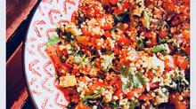 Salade express quinoa, boulghour, sésame et légumes