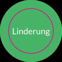 Aufkleber rund LINDERUNG (RESCUER) // BOGEN