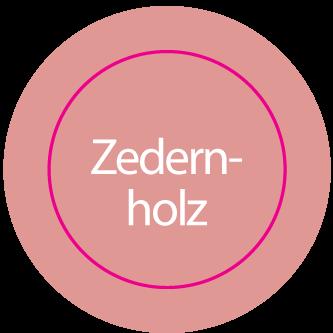 Aufkleber rund ZEDERNHOLZ // BOGEN