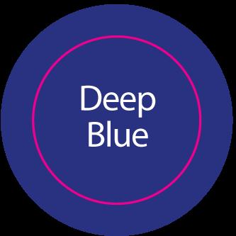 Aufkleber rund DEEP BLUE
