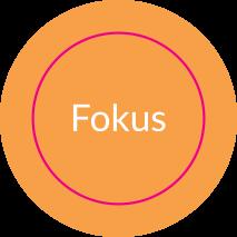 Aufkleber rund FOKUS (THINKER) // BOGEN