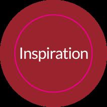 Aufkleber rund INSPIRATION (PASSION)