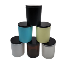 New candle jars with black wood lids