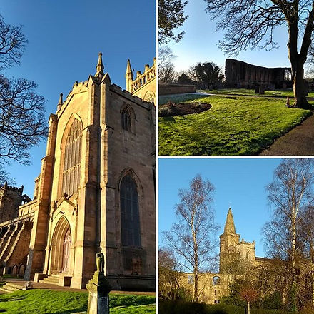 Dunfermline Abbey and Palace in the wint