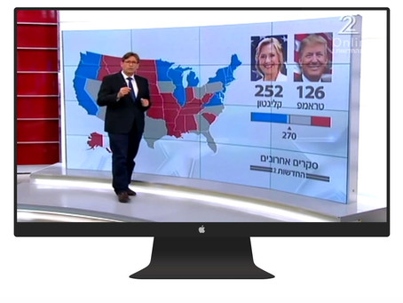 US elections on-air graphics