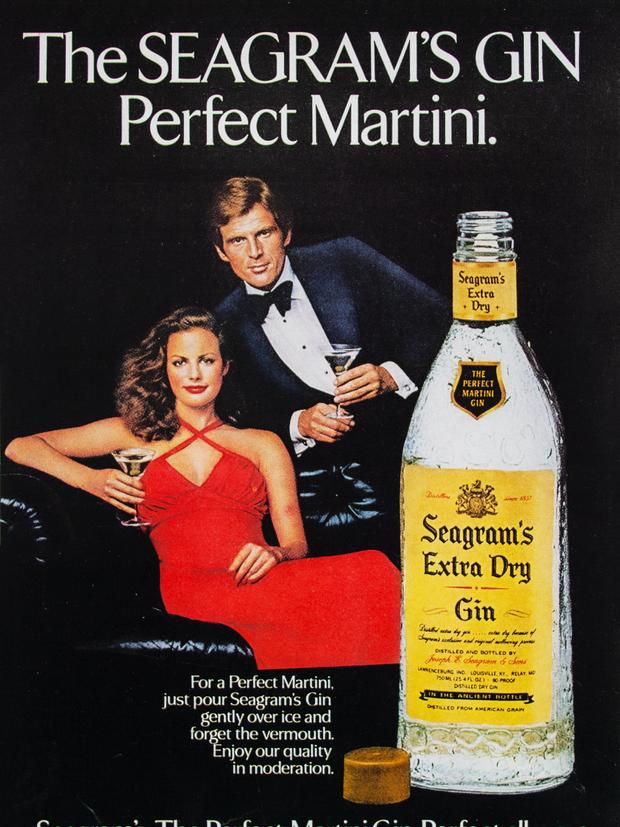 THE SEAGRAM'S GIN PERFECT MARTINI.
