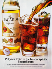 PUT YOUR COKE IN THE BEST OF SPIRITS. BACARDI RUM.