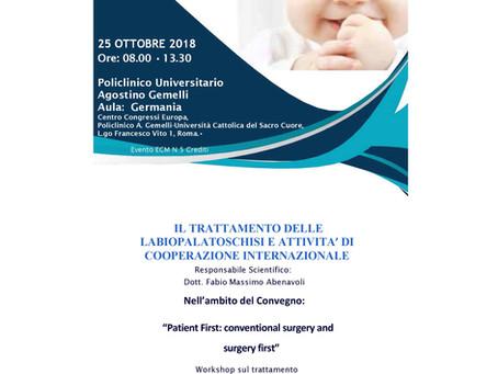 """SAVE THE DATE: 25 ottobre presso il Policlinico Gemelli importante workshop """"Il Trattamento delle La"""