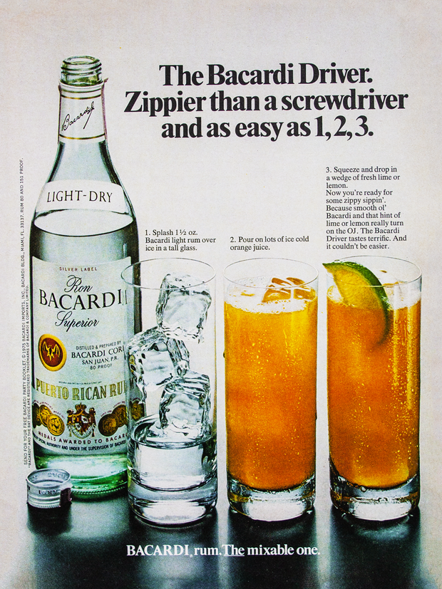 THE BACARDI DRIVER. ZIPPIER THAN A SCREWDRIVER AND AS EASY AS 1,2,3.