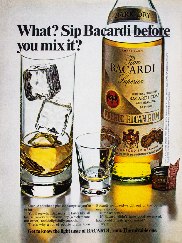WHAT? SIP BACARDI BEFORE YOU MIX IT?