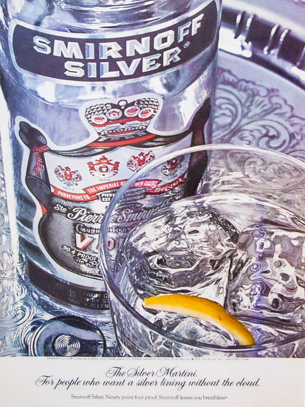THE SILVER MARTINI. FOR PEOPLE WHO WANT A SILVER LINING WITHOUT THE CLOUD.
