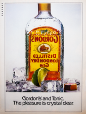 GORDON'S AND TONIC. THE PLEASURE IS CRYSTAL CLEAR.