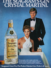 THE SEAGRAM'S GIN CRYSTAL MARTINI.