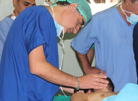 40 giovani operati e oltre 100 visite effettuate, tra le macerie di Damasco