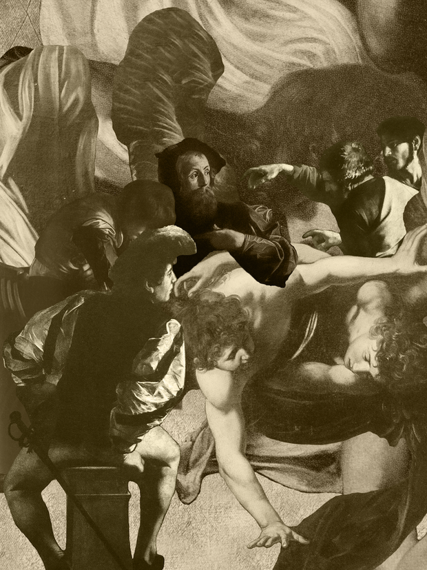 THE CALLING OF SAINT MATTHEW - Sepia