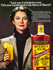 """""""LAST YEAR I SWITCHED TO RUM. THIS YEAR I GRADUATED TO MYERS'S RUM."""" N.1"""