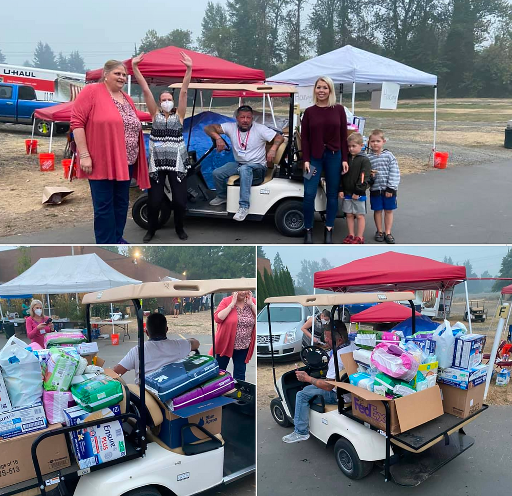 The WIllamette Valley Resources & Referrals team helping during the Oregon wild fires 2020.