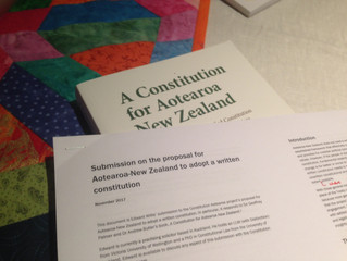Submission on the proposal for Aotearoa New Zealand to adopt a written constitution
