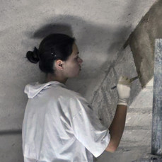 Preparation of the ground layer for the fresco decoration