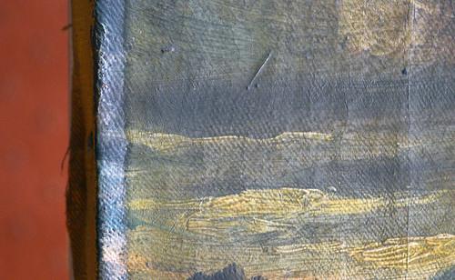 Detail of unvarnished area