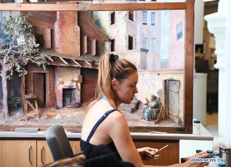 Amandine consolidating the diorama.jpg