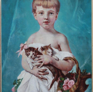Portrait of a Young Girl with Cats