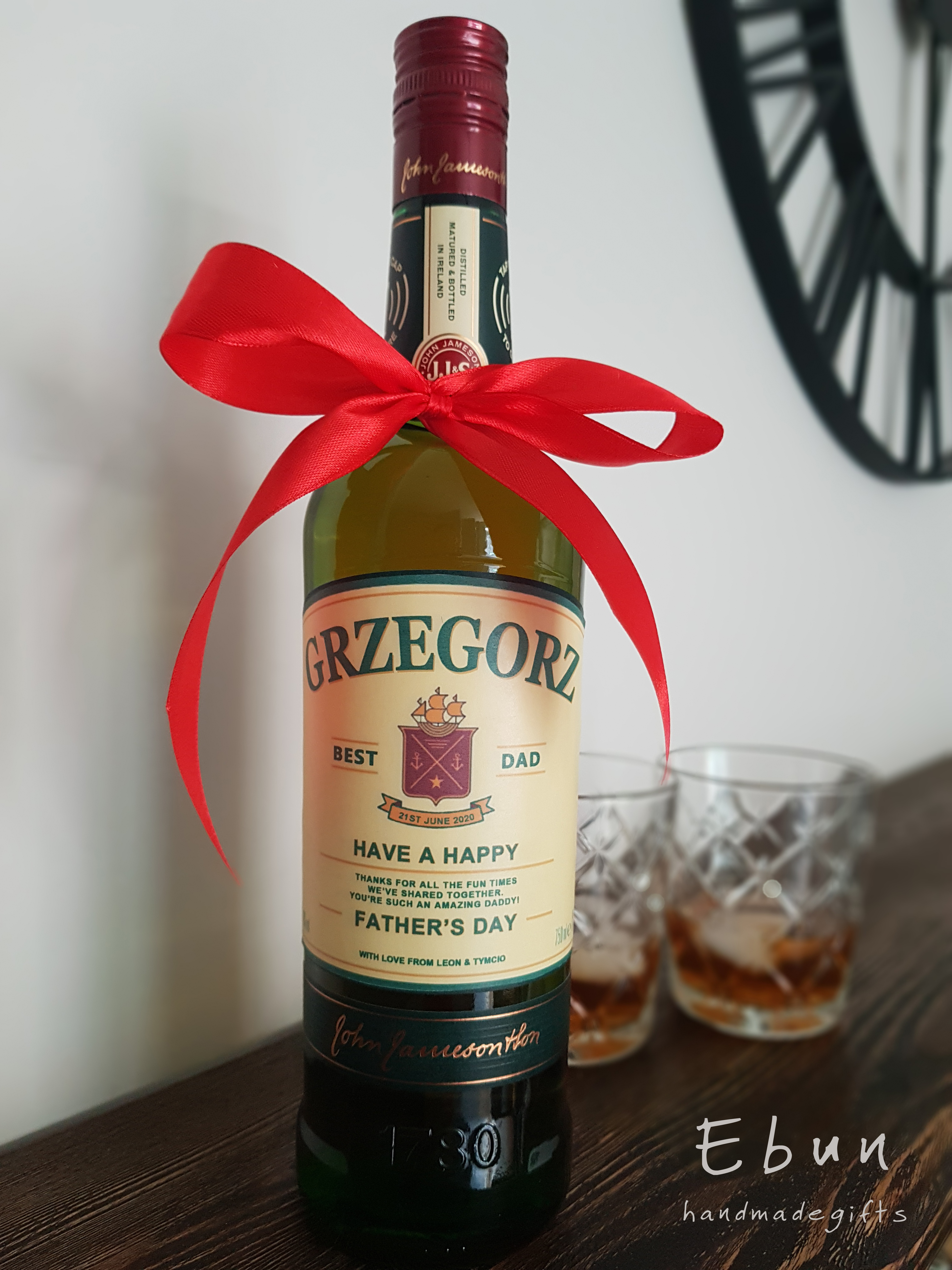Personalized Jameson Whiskey Label