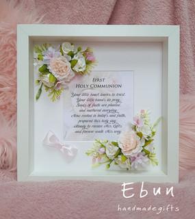 First Communion Flowery Frame