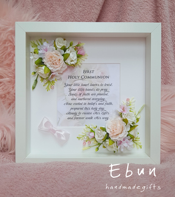 First Communion Flowery Frame