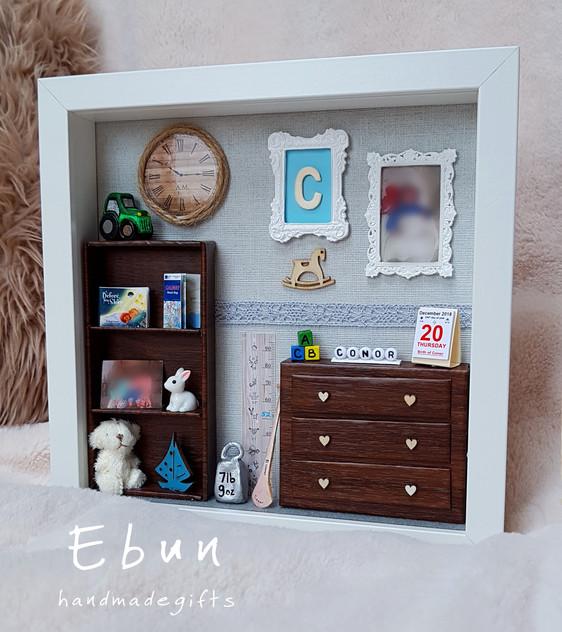 3D Keepsake Frame For Baby Boy