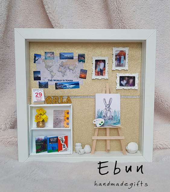 Birthday frame for art lover