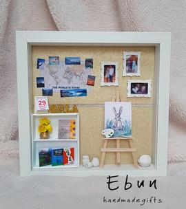 Birthday frame for art lover