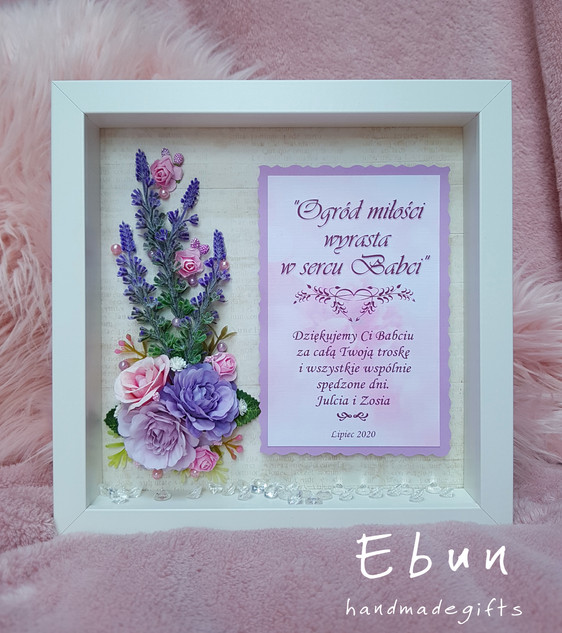 Flowery frame for Grandma