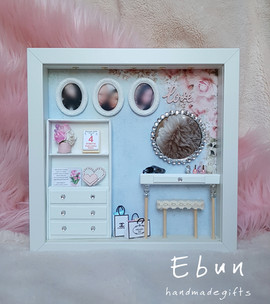 with dressing table - birthday frame