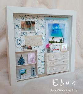 With window - birthday frame